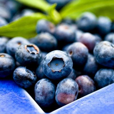 Fruit ou jus de myrtille bio riche en vitamine et antioxydant puissant